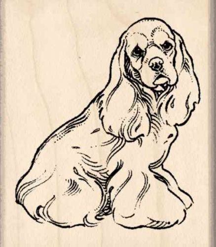 Cocker Spaniel Rubber Stamp