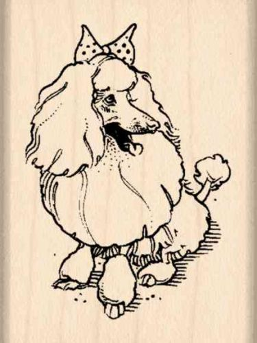Poodle Rubber Stamp