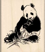 Panda Rubber Stamp