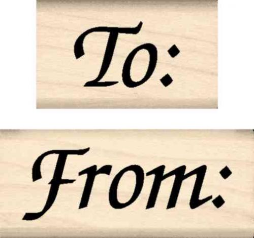 To: From: (2 pc. Set) Rubber Stamp