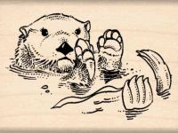 Otter Rubber Stamp