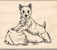 Terrier Rubber Stamp