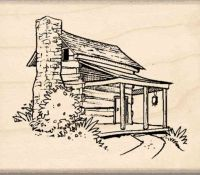Cabin Rubber Stamp