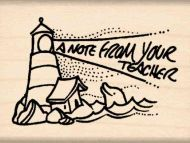 A Note From Your Teacher Rubber Stamp