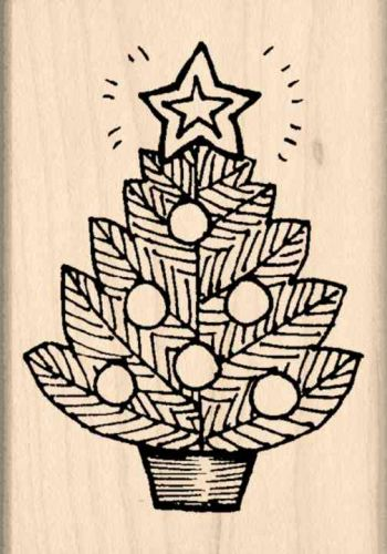 Christmas Tree Rubber Stamp