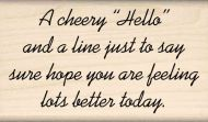A Cheery Hello... Sentiment Rubber Stamp