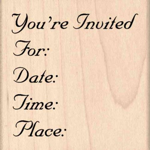 Your Invited… Rubber Stamp