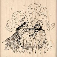 Witch's Brew Rubber Stamp