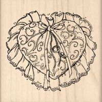 Wedding Ring Pillow Rubber Stamp