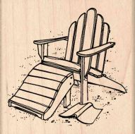 Adirondack Chair Rubber Stamp