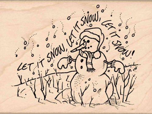 Let it Snow Christmas Rubber Stamp