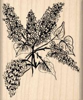 Lilac Rubber Stamp