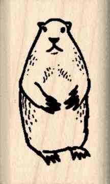 Ground Hog Rubber Stamp