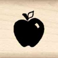 Apple Little Rubber Stamp