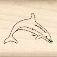 Dolphin Little Rubber Stamp