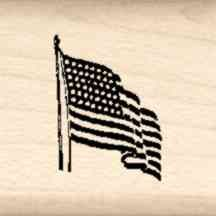 USA Flag Little Rubber Stamp