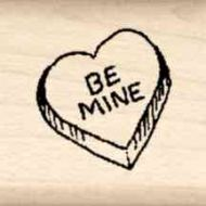 Be Mine Little Rubber Stamp