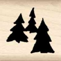 Trees Little Rubber Stamp