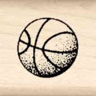 Basketball Little Rubber Stamp