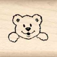 Bear Little Rubber Stamp