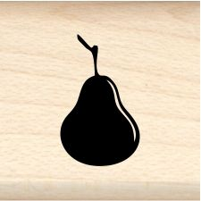 Pear Little Rubber Stamp (qty 100)