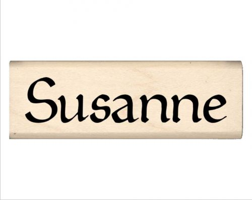 Susanne Name Rubber Stamp