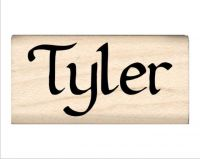 Tyler Name Rubber Stamp