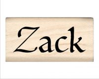 Zack Name Rubber Stamp