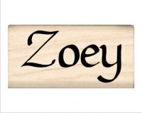 Zoey Name Rubber Stamp